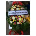 พวงหรีดดอกไม้สด Size L