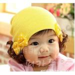 หมวกลายโบว์สีเหลือง