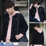 เสื้อแจ็คเก็ตยีนต์ J001 (สีดำ) พร้อมส่ง