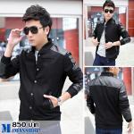 เสื้อแจ๊คเก็ต J018 สีดำ [พร้อมส่ง]