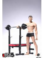 POPTOYS EY03 Gym Equipment-Alloy barbell and the dumbbell bench set