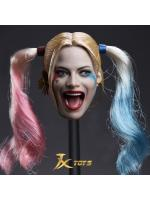JXTOYS JX-012 Clown girl Hair plastic hair double whip headsculpt