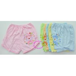 กางเกงต่อกันขาสั้น ผ้า cotton 100% พื้นสี ใส่ได้ตั้งแต่แรกเกิด