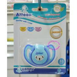 จุกหลอก แฟนซี (หัวกลม) ยี่ห้อ ATTOON (BPA FREE) สีฟ้า