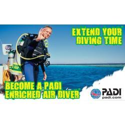 หลักสูตร Enriched Air Diver ( nitrox ) 5500 บาท