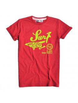 เสื้อยืด RudeDog รุ่น Surf สีแดง