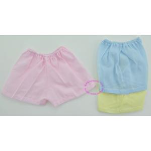 กางเกงขาสั้น ผ้าป่าน สีพื้น ใส่ได้ตั้งแต่แรกเกิด