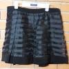 S028 กระโปรงดำ ผ้าแก้วลายขวาง ซับในเป็นกางเกง (เหมือนใหม่ สภาพดี)