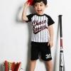 ชุดเด็ก เสื้อลายทางกางเกงสีดำ ยกแพ็ค 5 ชุด (ราคา 160 บาท/ชุด) ขนาด 100-140
