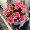 ช่อดอกกุหลาบสีชมพูหวาน ของขวัญวันวาเลนไทน์