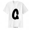 เสื้อยืด ตัวอักษร G