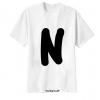 เสื้อยืด ตัวอักษร N