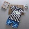 ชุดเด็ก เสื้อลายทางกางเกงสียีนส์ ยกแพ็ค 4 ชุด (ราคา 180 บาท/ชุด) ขนาด 90-120