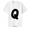 เสื้อยืด ตัวอักษร Q