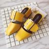 [มี2สี] รองเท้าแตะสไตล์อังกฤษ ส้นเตี้ย ทรงย้อนยุค แต่งหัวเข็มขัด เปิดส้น ใส่สบาย แฟชั่นหน้าร้อน ส้นสูงประมาณ 1.5 นิ้ว