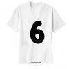 เสื้อยืด ตัวอักษร 6