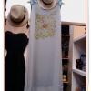 KTE105 หมดค่ะ Maxi Dress เซ็ต2ชิ้น ตัวเดรสสีเทาพิมพ์ลายดอกไม้
