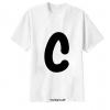 เสื้อยืด ตัวอักษร C