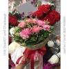 ช่อดอกไม้สด คาร์เนชั่น สีชมพู