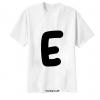 เสื้อยืด ตัวอักษร E