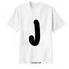 เสื้อยืด ตัวอักษร J