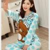 ชุดนอนแขนยาว ลายหมีริลัคคุมะ สีฟ้า Size M