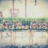 ดอกไม้หน้าศพ แบบสวน 2 ชั้น