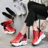 [มีหลายสี] รองเท้าผ้าใบเสริมส้น Soid วัสดุหนังคุณภาพสูงนำเข้า สวย แฟชั่นสไตล์เกาหลี ส้นสูง 4 นิ้ว
