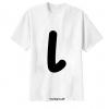 เสื้อยืด ตัวอักษร L