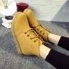 [มีหลายสี] รองเท้าบูทสั้นผู้หญิงมาร์ติน หนัง pu ร้อยเชือก สไตล์คาวบอย