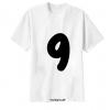 เสื้อยืด ตัวอักษร 9
