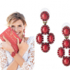 Earring in Red by SD