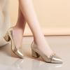 [มี2สี] รองเท้าคัทชู ส้นสูง ใส่ออกงาน ทรงสวย สุภาพ ทำจากหนังไมโครไฟเบอร์ แต่งเลื่อมสวยวุ้งวิ้ง ดูแพง ส้นสูง 2.5 นิ้ว