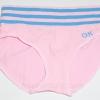 กางเกงในหญิง ลายเส้น Logo OK สีชมพู