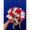 ช่อดอกกุหลาบแดงแห้ง วาเลนไทน์