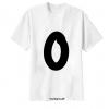 เสื้อยืด ตัวอักษร 0