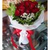 ช่อดอกกุหลาบ (ดอกเล็ก) สีแดง