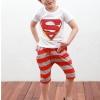 ชุดเด็ก เสื้อสีขาวกางเกงสีแดงเทา ยกแพ็ค 5 ชุด (ราคา 170 บาท/ชุด) ขนาด 100-140