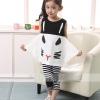 ชุดเด็ก เสื้อสีขาวดำกางเกงลายทาง แพ็ค 5 ชุด (ราคา 170 บาท/ชุด) ขนาด 110-150