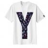 เสื้อยืด ลาย ตัวอักษร Y