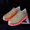 รองเท้ามีไฟ รองเท้า LED สีทอง เปลี่ยนสีได้ 11 สี สินค้าพรีออเดอร์