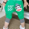 กางเกงสีเขียว ลายลิง ยกแพ็ค 5 ตัว (ราคา 130 บาท/ตัว) ขนาด 100-140