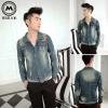 เสื้อแจ็คเก็ตยีนต์ VIP1 (น้ำเงินฟอก) - สินค้าไต้หวัน/พร้อมส่ง ลดล้างสต๊อก ไซต์ 2XL