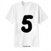 เสื้อยืด ตัวอักษร 5