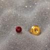 GOLD PLATED BABY DAISY JUL RUBY APR CRYSTAL (7581-6074)
