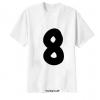 เสื้อยืด ตัวอักษร 8