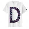 เสื้อยืด ลาย ตัวอักษร D