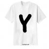 เสื้อยืด ตัวอักษร Y