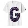 เสื้อยืด ลาย ตัวอักษร G