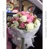 ช่อดอกไม้กุหลาบ ดอกคาร์เนชั่น